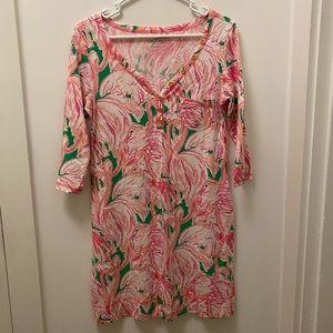 Lilly Pulitzer Flamingo Print T-Shirt Dress 🦩🦩🦩